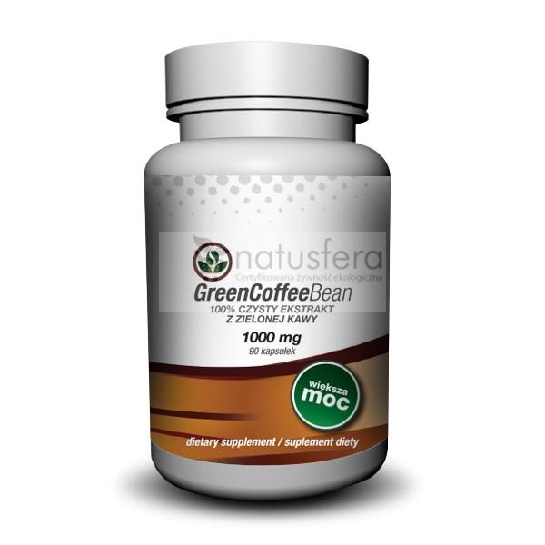 Zielona kawa - tabletki - sklep internetowy - ekstrakt z zielonej kawy - kapsułki 1000mg - 90 sztuk