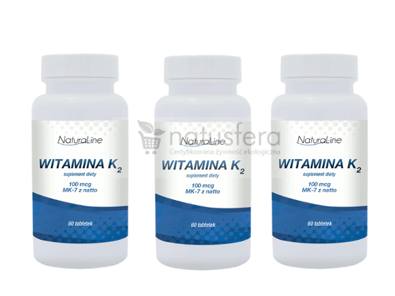 Witamina K2 MK-7 - sklep internetowy - 3 x 60 tabletek