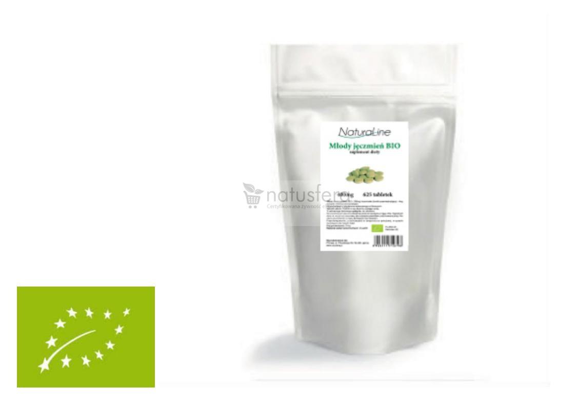 Młody jęczmień BIO Naturaline tabletki - 250g - 500szt XL (na około 3 miesiące) - PROMOCJA MINUS 30%