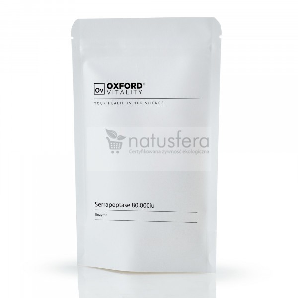 Oxford Vitality, enzym trawienny białko Serrapeptase 80000 IU - serrapeptaza - sklep internetowy - 120 tabletek